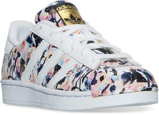 adidas Big Girls' Superstar Casual Sneakers from Finish Line $74.99 thestylecure.com
