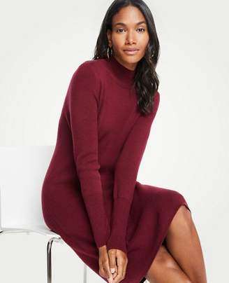 Ann Taylor Tall Turtleneck Sweater Shift Dress