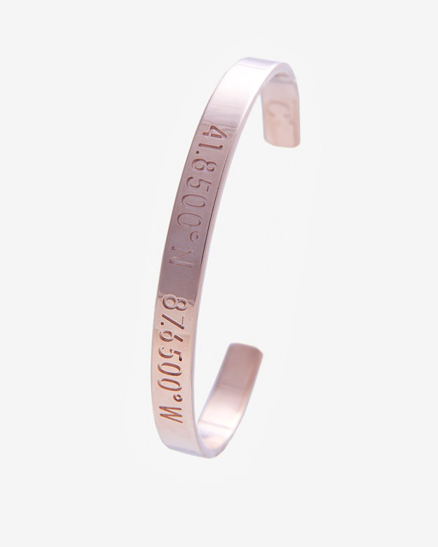 Coordinates Collection Chicago Rose Gold Cuff