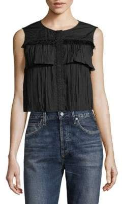 Saloni Layered Lace Top