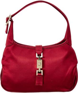 Gucci Burgundy Satin Mini Jackie Bag
