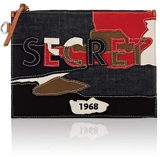 "Sonia Rykiel Women's ""Secret"" Denim & Canvas Pouch"