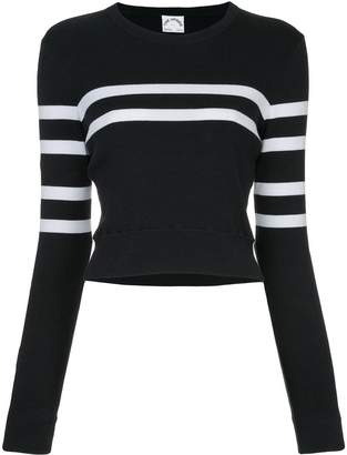 The Upside stripe detail cropped sweatshirt