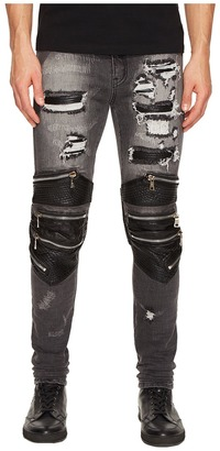 God's Masterful Children - Radburn Patchwork Biker Jeans Men's Jeans $545 thestylecure.com