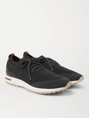 Loro Piana 360 Flexy Walk Leather-Trimmed Knitted Wool Sneakers