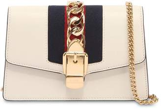 Gucci Super Mini Sylvie Leather Shoulder Bag