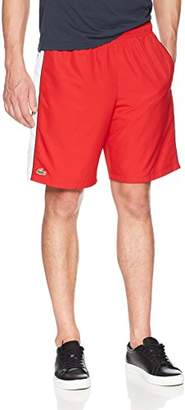 """Lacoste Men's 8"""" Woven Short with Side Color Block Ing"""