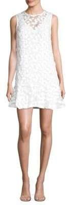 Trina Turk Embroidered Lace Sleeveless Sheer Dress
