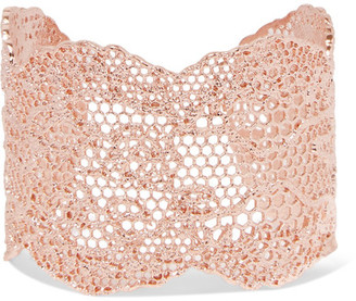 Aurélie Bidermann - Lace Rose Gold-plated Cuff - one size $665 thestylecure.com