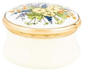 Halcyon Days Enamel Floral Trinket Box