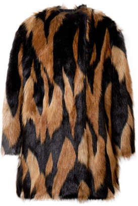 Givenchy Oversized Faux Fur Coat - Black