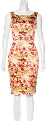 Zac Posen Floral Sleeveless Dress