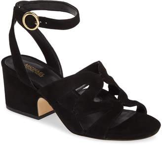ad240ef03295 MICHAEL Michael Kors Black Heel Strap Women s Sandals - ShopStyle