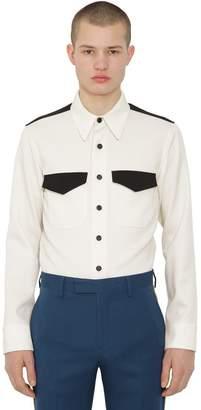Calvin Klein Dry Handfeel Wool Twill Shirt