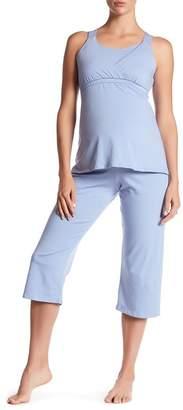 Majamas Kinzie Maternity\u002FNursing Pajama Set (Maternity)