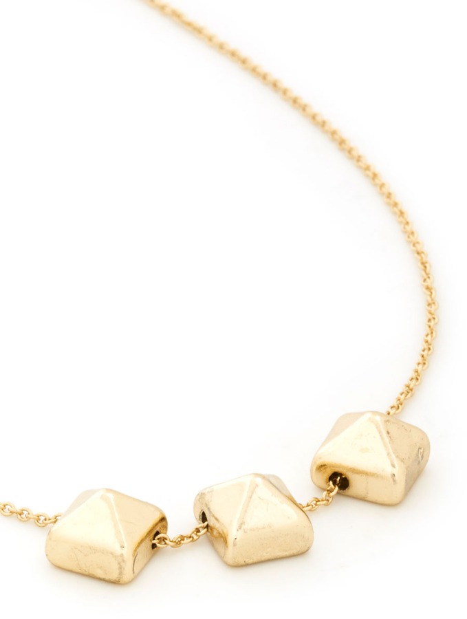 Shape Your Style Necklace in Pyramids