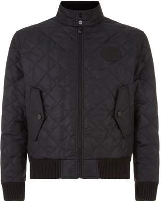 Burberry Diamond Quilted Harrington Jacket