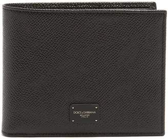 Dolce & Gabbana Bi-fold grained-leather wallet