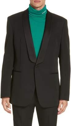 Calvin Klein Wool Tuxedo Jacket