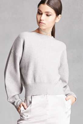 FOREVER 21+ Boxy Heathered Knit Sweater $24.90 thestylecure.com