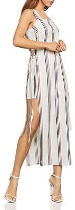 BCBGMAXAZRIA Side-Tie Striped Maxi Dress