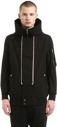Rick Owens Drkshdw Hooded Zip Light Cotton Jacket