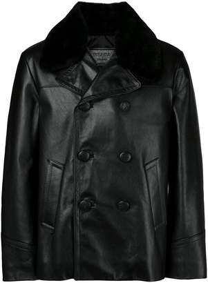 Prada double-breasted leather jacket