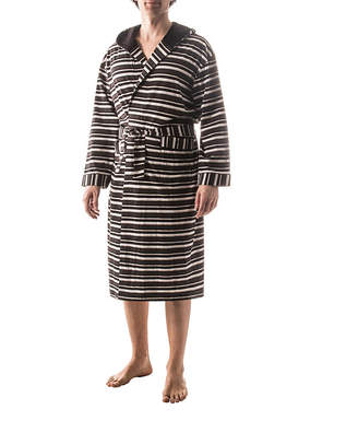 RESIDENCE Residence Striped Hooded Robe - Tall