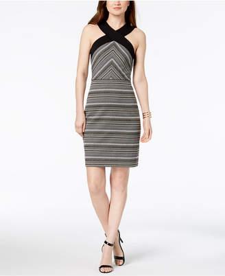 Laundry by Shelli Segal Metallic Jacquard Sheath Dress