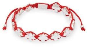 King Baby Studio Stainless Steel Cross Charms Rope Bracelet