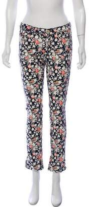Max Mara Weekend Mid-Rise Floral Jeans