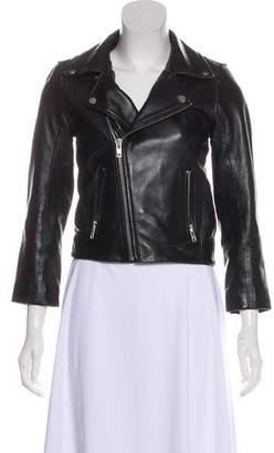 Ganni Collared Leather Jacket