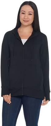 Cuddl Duds Soft Comfort Full Zip Hooded Sweatshirt