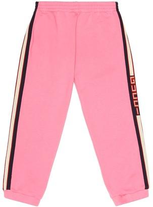 Gucci Kids Striped cotton track pants