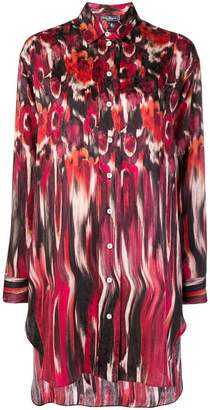 Salvatore Ferragamo printed oversized shirt