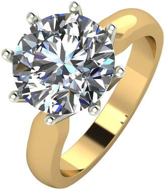 Moissanite 9ct Gold 4ct Equivalent Solitaire Ring