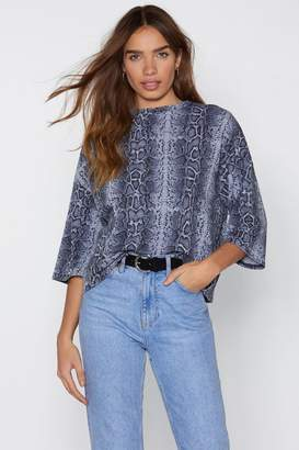 Nasty Gal Snake a Night of It Cropped Tee