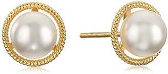 Swarovski 10K Gold Dainty Crystal Birthstone Pendant Necklace with Stud Earrings Set