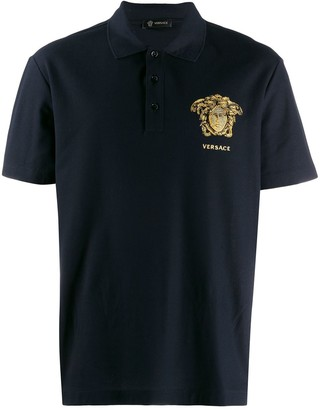 Versace embroidered Medusa polo shirt