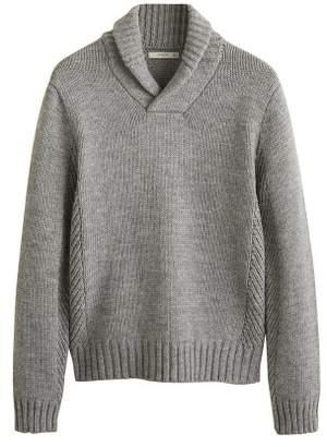 Mango Man MANGO MAN Camp-collar knit sweater