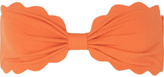 Marysia Swim Antibes Scalloped Bandeau Bikini Top - Pastel orange