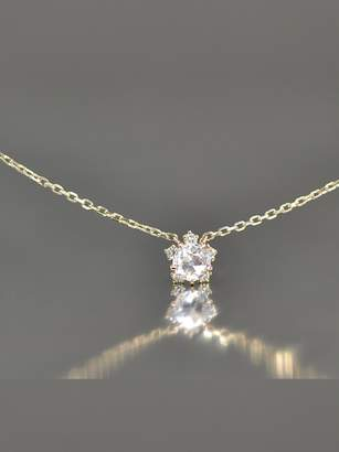 Kataoka Dainty Diamond Snowflake Necklace - Rose Gold