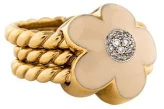 Pasquale Bruni 18K Diamond Flower Cocktail Ring