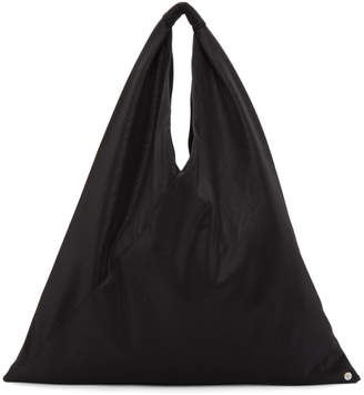 MM6 MAISON MARGIELA Black Faux-Leather Triangle Tote