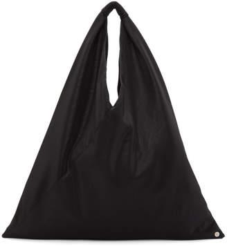 Maison Margiela Black Faux-Leather Triangle Tote