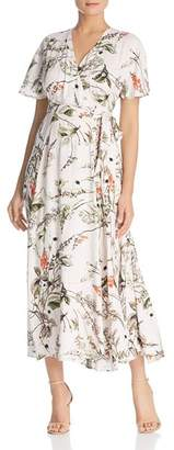 Elan International Botanical Maxi Wrap Dress