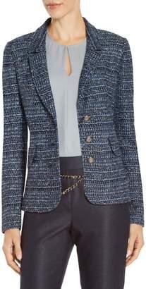 St. John Miniature Rainbow Tweed Knit Jacket