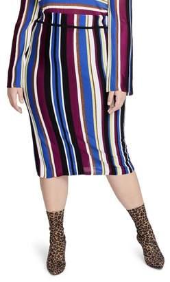 Rachel Roy RACHEL  Royal Metallic Stripe Pencil Skirt