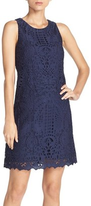 Women's Eliza J Sleeveless Lace Shift Dress $158 thestylecure.com
