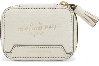 Anya Hindmarch Keepsake Small Embossed Textured-leather Case - Cream